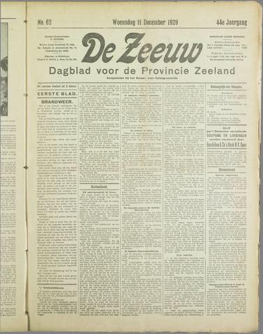 De Zeeuw. Christelijk-historisch nieuwsblad voor Zeeland 1929-12-11