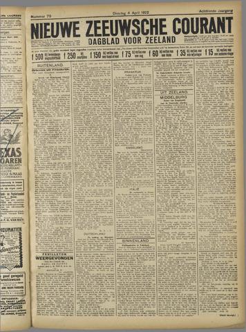 Nieuwe Zeeuwsche Courant 1922-04-04
