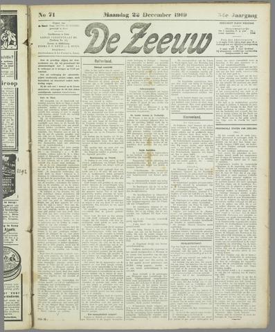De Zeeuw. Christelijk-historisch nieuwsblad voor Zeeland 1919-12-22