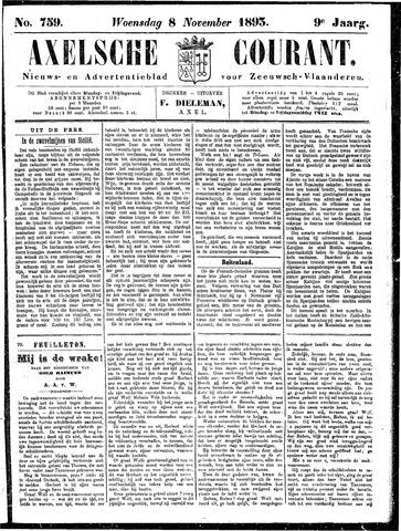Axelsche Courant 1893-11-08