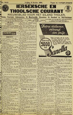 Ierseksche en Thoolsche Courant 1931-10-09