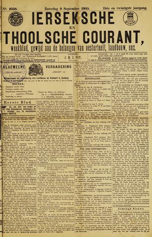 Ierseksche en Thoolsche Courant 1905-09-09