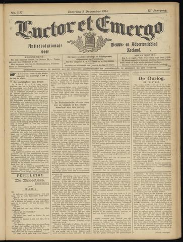 Luctor et Emergo. Antirevolutionair nieuws- en advertentieblad voor Zeeland / Zeeuwsch-Vlaanderen. Orgaan ter verspreiding van de christelijke beginselen in Zeeuwsch-Vlaanderen 1914-12-05