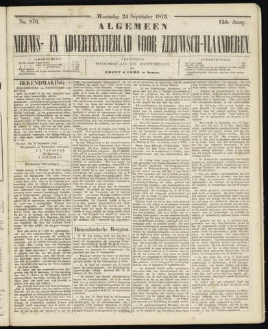 Ter Neuzensche Courant. Algemeen Nieuws- en Advertentieblad voor Zeeuwsch-Vlaanderen / Neuzensche Courant ... (idem) / (Algemeen) nieuws en advertentieblad voor Zeeuwsch-Vlaanderen 1873-09-24