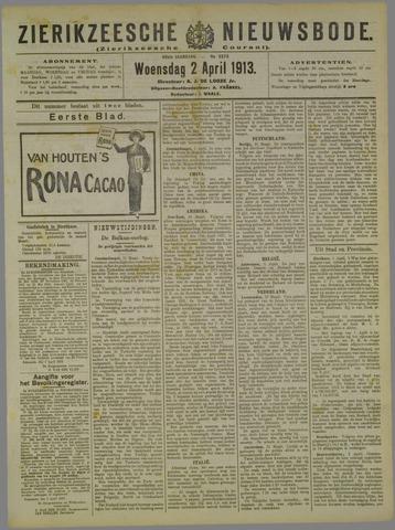 Zierikzeesche Nieuwsbode 1913-04-02