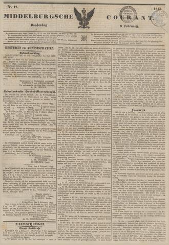 Middelburgsche Courant 1843-02-09