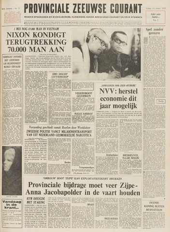 Provinciale Zeeuwse Courant 1972-01-14