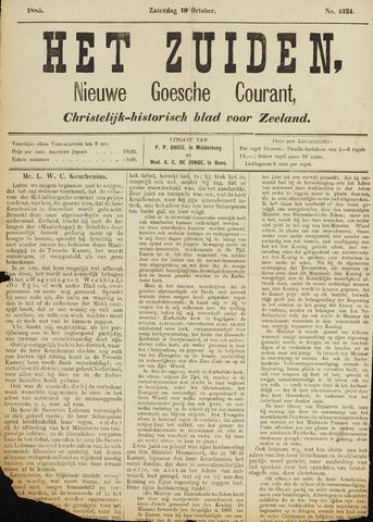 Het Zuiden, Christelijk-historisch blad 1885-10-10