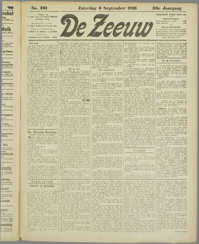 De Zeeuw. Christelijk-historisch nieuwsblad voor Zeeland 1916-09-09