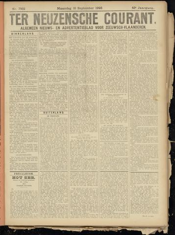 Ter Neuzensche Courant. Algemeen Nieuws- en Advertentieblad voor Zeeuwsch-Vlaanderen / Neuzensche Courant ... (idem) / (Algemeen) nieuws en advertentieblad voor Zeeuwsch-Vlaanderen 1923-09-10