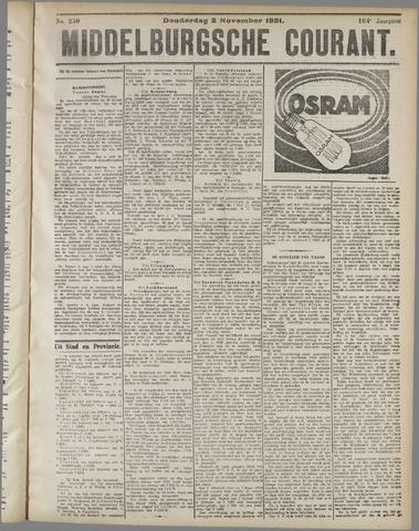Middelburgsche Courant 1921-11-03