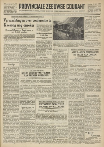 Provinciale Zeeuwse Courant 1951-07-10