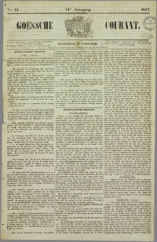 Goessche Courant 1857-02-05