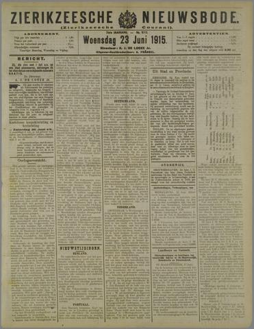 Zierikzeesche Nieuwsbode 1915-06-23