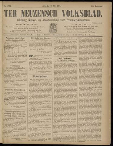 Ter Neuzensch Volksblad. Vrijzinnig nieuws- en advertentieblad voor Zeeuwsch- Vlaanderen / Zeeuwsch Nieuwsblad. Nieuws- en advertentieblad voor Zeeland 1917-05-12