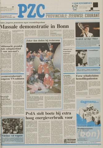 Provinciale Zeeuwse Courant 1992-11-16