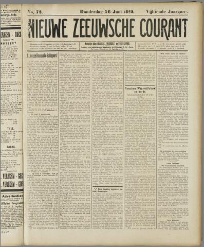 Nieuwe Zeeuwsche Courant 1919-06-26