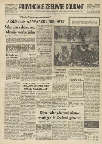 Provinciale Zeeuwse Courant 1958-05-17