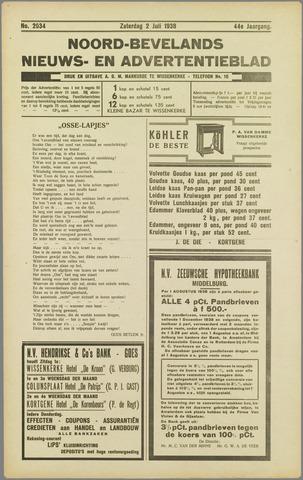 Noord-Bevelands Nieuws- en advertentieblad 1938-07-02
