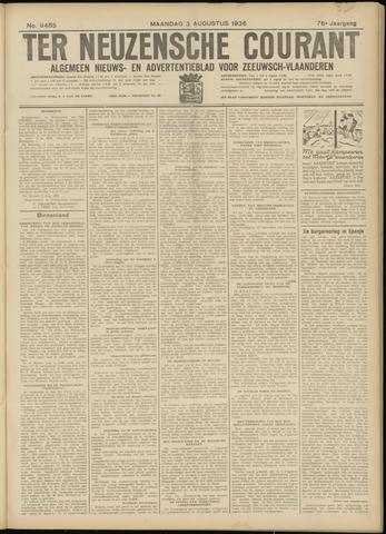 Ter Neuzensche Courant. Algemeen Nieuws- en Advertentieblad voor Zeeuwsch-Vlaanderen / Neuzensche Courant ... (idem) / (Algemeen) nieuws en advertentieblad voor Zeeuwsch-Vlaanderen 1936-08-03
