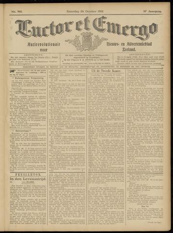 Luctor et Emergo. Antirevolutionair nieuws- en advertentieblad voor Zeeland / Zeeuwsch-Vlaanderen. Orgaan ter verspreiding van de christelijke beginselen in Zeeuwsch-Vlaanderen 1912-10-26