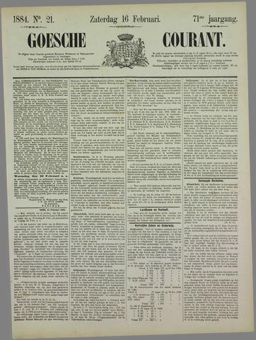 Goessche Courant 1884-02-16