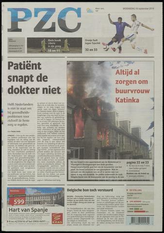 Provinciale Zeeuwse Courant 2014-09-10