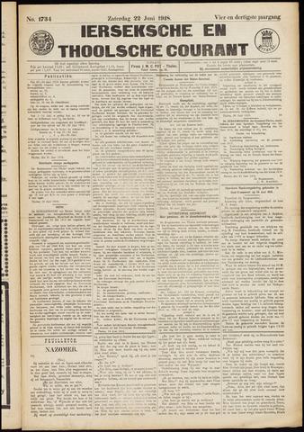 Ierseksche en Thoolsche Courant 1918-06-22