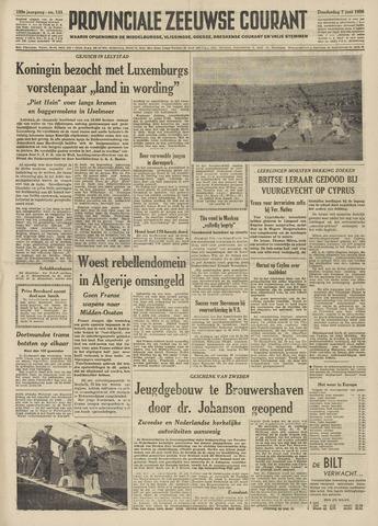 Provinciale Zeeuwse Courant 1956-06-07