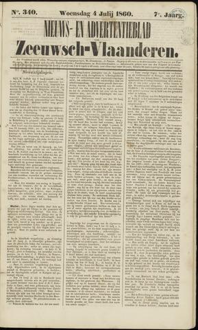 Ter Neuzensche Courant. Algemeen Nieuws- en Advertentieblad voor Zeeuwsch-Vlaanderen / Neuzensche Courant ... (idem) / (Algemeen) nieuws en advertentieblad voor Zeeuwsch-Vlaanderen 1860-07-04