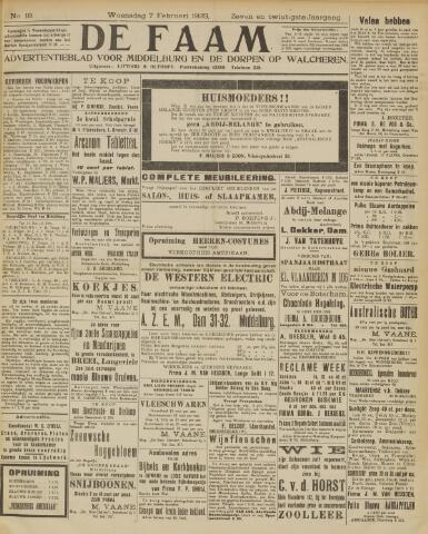 de Faam en de Faam/de Vlissinger 1923-02-07