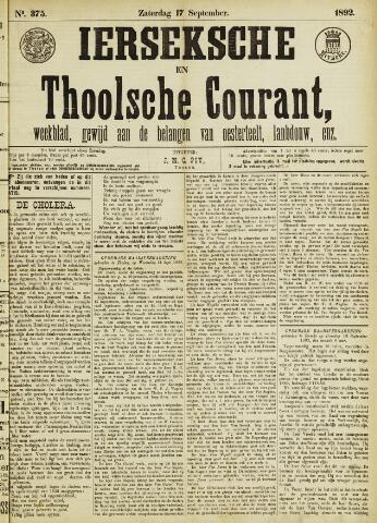 Ierseksche en Thoolsche Courant 1892-09-17