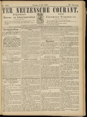 Ter Neuzensche Courant. Algemeen Nieuws- en Advertentieblad voor Zeeuwsch-Vlaanderen / Neuzensche Courant ... (idem) / (Algemeen) nieuws en advertentieblad voor Zeeuwsch-Vlaanderen 1905-07-04