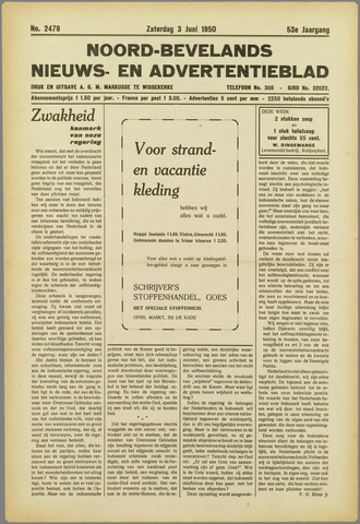 Noord-Bevelands Nieuws- en advertentieblad 1950-06-03
