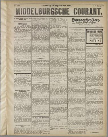 Middelburgsche Courant 1921-09-10