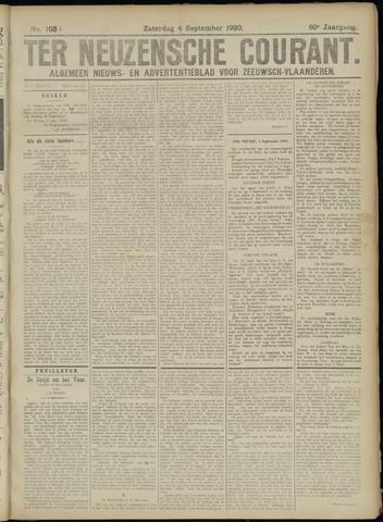 Ter Neuzensche Courant. Algemeen Nieuws- en Advertentieblad voor Zeeuwsch-Vlaanderen / Neuzensche Courant ... (idem) / (Algemeen) nieuws en advertentieblad voor Zeeuwsch-Vlaanderen 1920-09-04