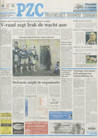 Provinciale Zeeuwse Courant 2002-11-09