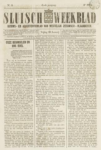 Sluisch Weekblad. Nieuws- en advertentieblad voor Westelijk Zeeuwsch-Vlaanderen 1865-01-20