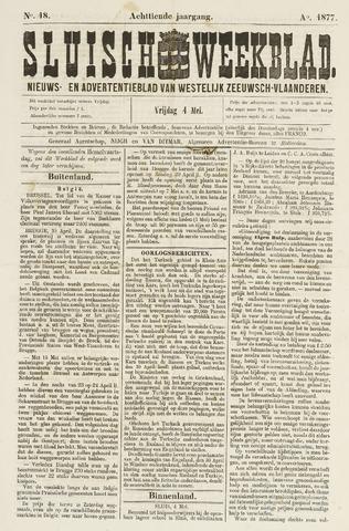 Sluisch Weekblad. Nieuws- en advertentieblad voor Westelijk Zeeuwsch-Vlaanderen 1877-05-04