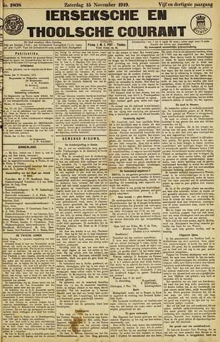 Ierseksche en Thoolsche Courant 1919-11-15