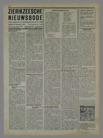 Zierikzeesche Nieuwsbode 1942-11-24