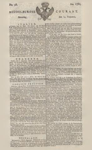 Middelburgsche Courant 1762-08-14