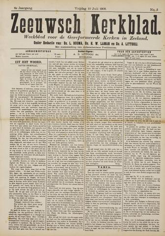Zeeuwsche kerkbode, weekblad gewijd aan de belangen der gereformeerde kerken/ Zeeuwsch kerkblad 1908-07-10