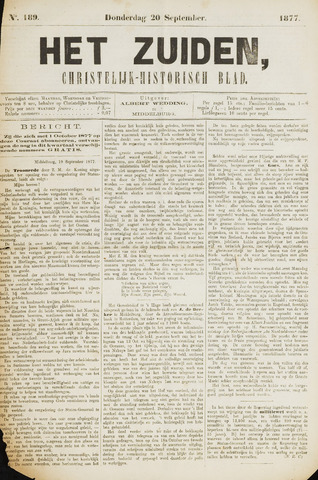Het Zuiden, Christelijk-historisch blad 1877-09-20