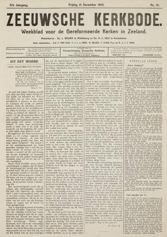 Zeeuwsche kerkbode, weekblad gewijd aan de belangen der gereformeerde kerken/ Zeeuwsch kerkblad 1923-12-21