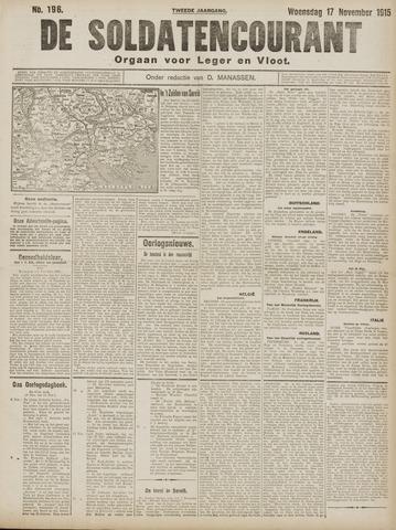 De Soldatencourant. Orgaan voor Leger en Vloot 1915-11-17