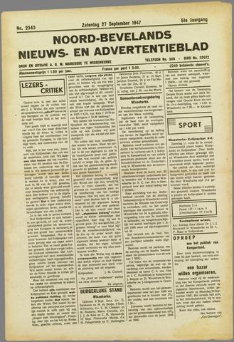 Noord-Bevelands Nieuws- en advertentieblad 1947-09-27