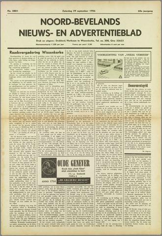 Noord-Bevelands Nieuws- en advertentieblad 1956-09-29