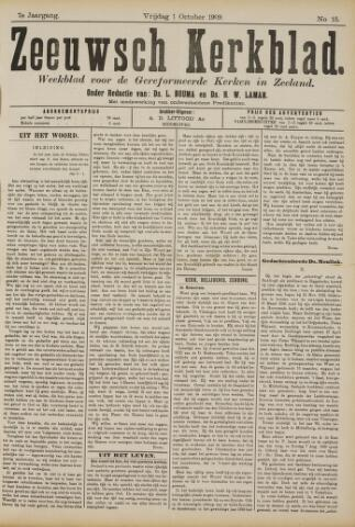 Zeeuwsche kerkbode, weekblad gewijd aan de belangen der gereformeerde kerken/ Zeeuwsch kerkblad 1909-10-01