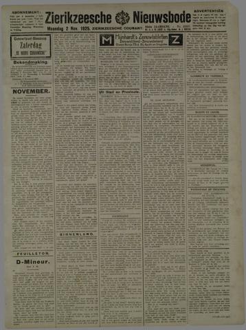 Zierikzeesche Nieuwsbode 1925-11-02